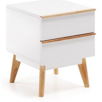Biała szafka nocna La Forma Meety, 42,5x40 cm
