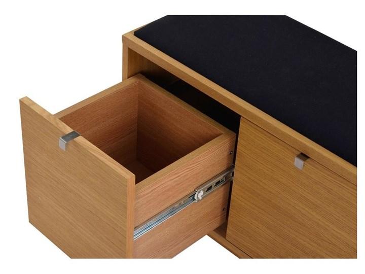 Ławka ze schowkiem i z czarnym siedziskiem Rowico Confetti, szer. 70cm Materiał nóżek Metal Kategoria Ławki do salonu