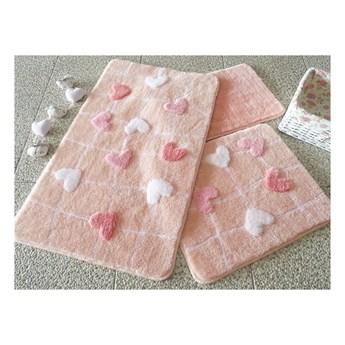 Zestaw 3 dywaników łazienkowych Kalbim Pink