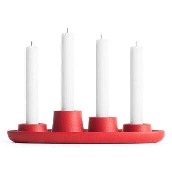 Czerwony świecznik EMKO Aye Aye Four Candles