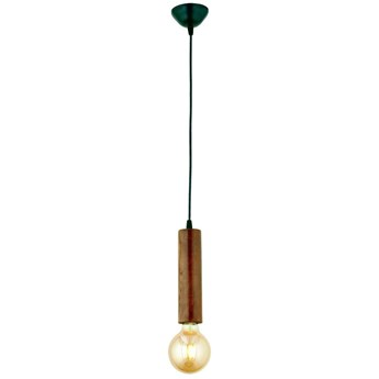Lampa wisząca z drewna grabu Silindir
