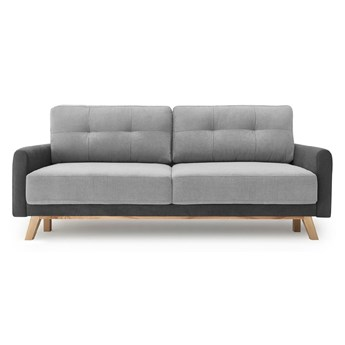 Jasnoszara sofa rozkładana Bobochic Paris Balio