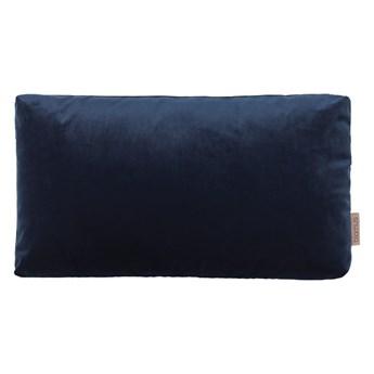 Granatowa poszewka na poduszkę z efektem aksamitu Blomus, 50x30cm