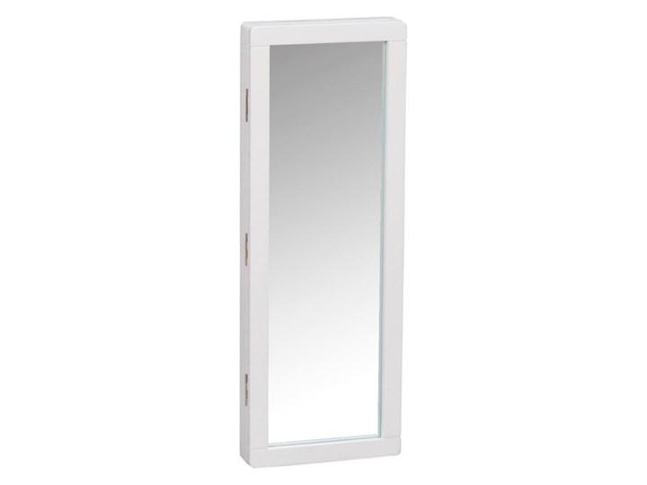 Biała szafka na klucze z lustrem Rowico Metro Drewno Kolor Biały Kategoria Szafki i wieszaki na klucze