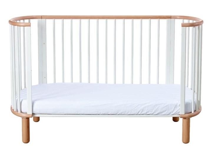 Białe łóżeczko dziecięce z drewna bukowego Flexa Baby, 70x140 cm Łóżeczka drewniane Drewno Kategoria