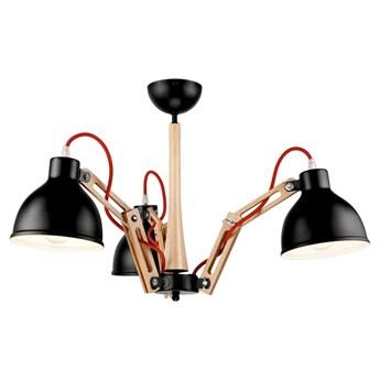 Czarna lampa wisząca 3 żarówki Lamkur Marcello