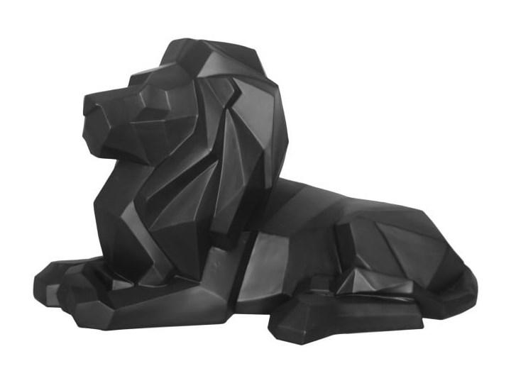 Matowa czarna figurka w kształcie lwa PT LIVING Origami Lion