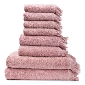 Zestaw 8 różowych ręczników ze 100% bawełny Bonami