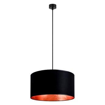 Czarna lampa wisząca z wnętrzem w kolorze miedzi Sotto Luce Mika, ⌀ 50 cm