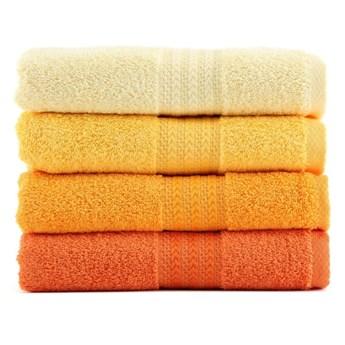 Zestaw 4 ręczników Rainbow Daisy, 50x90 cm