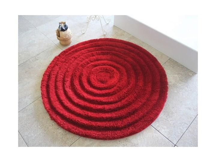 Dywanik łazienkowy Round Red, Ø 90 cm Kategoria Dywaniki łazienkowe Okrągły Kolor Czerwony