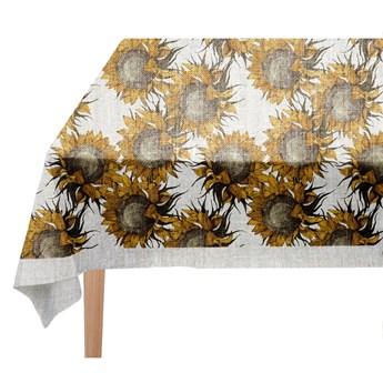 Obrus Linen Couture Sunflower, 140x140 cm