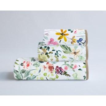 Komplet 3 ręczników z bawełny i mikrowłókna Surdic Calm Flowers