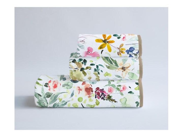 Komplet 3 ręczników z bawełny i mikrowłókna Surdic Calm Flowers Bawełna 40x90 cm 30x40 cm Kategoria Ręczniki 60x140 cm Komplet ręczników Kolor Zielony