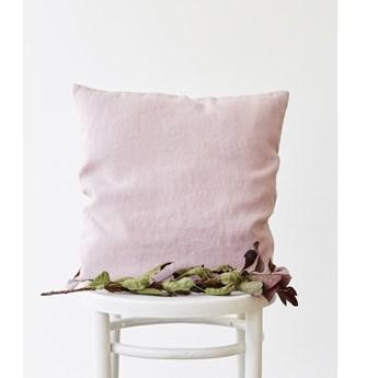 Jasnofioletowa lniana poszewka na poduszkę Linen Tales, 45x45 cm