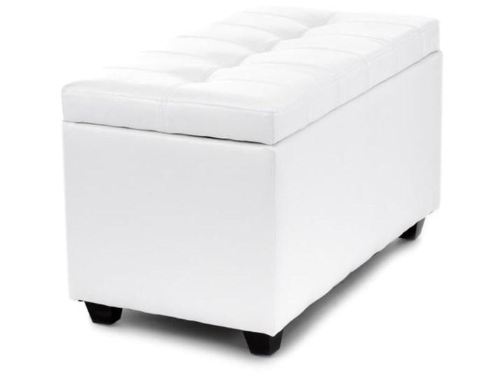 Biała ławka ze schowkiem Tomasucci Nice Skrzynia Pikowana Pomieszczenie Sypialnia