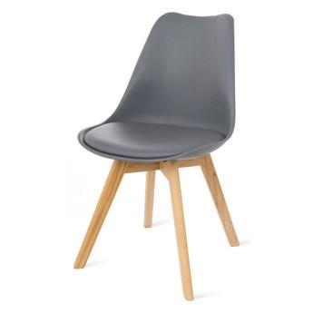 Zestaw 2 szarych krzeseł z bukowymi nogami loomi.design Retro