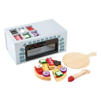 Zestaw drewnianych zabawek do przyrządzania pizzy Legler Kitchen
