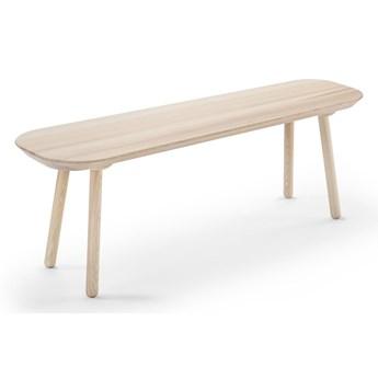 Ławka z drewna jesionowego EMKO Naïve, szer. 140 cm