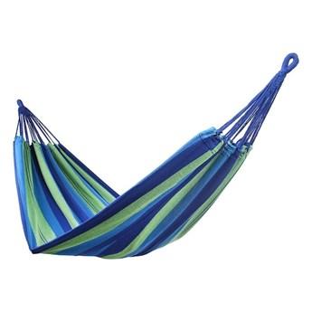 Zielono-niebieski hamak DecoKing Cotpoly
