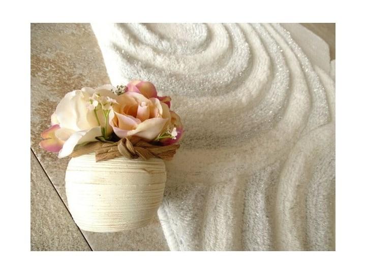 Zestaw 3 białych dywaników łazienkowych Alessia Sparkle Kategoria Dywaniki łazienkowe 60x100 cm 40x60 cm 50x60 cm Prostokątny Kolor Beżowy