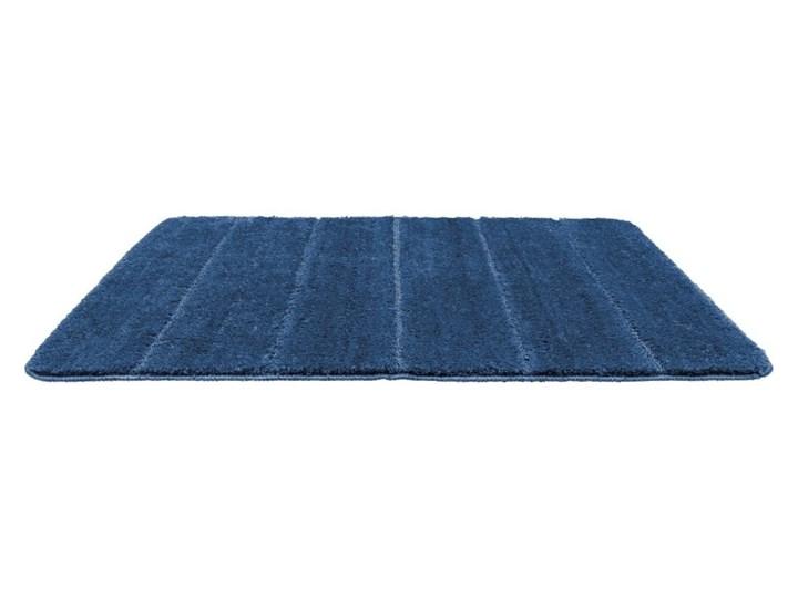 Ciemnoniebieski dywanik łazienkowy Wenko Steps, 90x60 cm 60x90 cm Prostokątny Kategoria Dywaniki łazienkowe