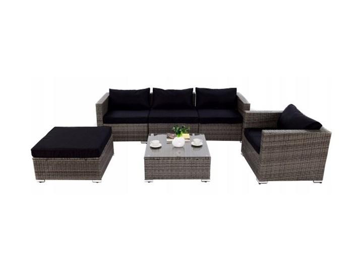 Meble ogrodowe rattanowe zestaw kanapa fotele i stół Zestawy kawowe Zestawy wypoczynkowe Technorattan Zestawy modułowe Stal Zawartość zestawu Puf