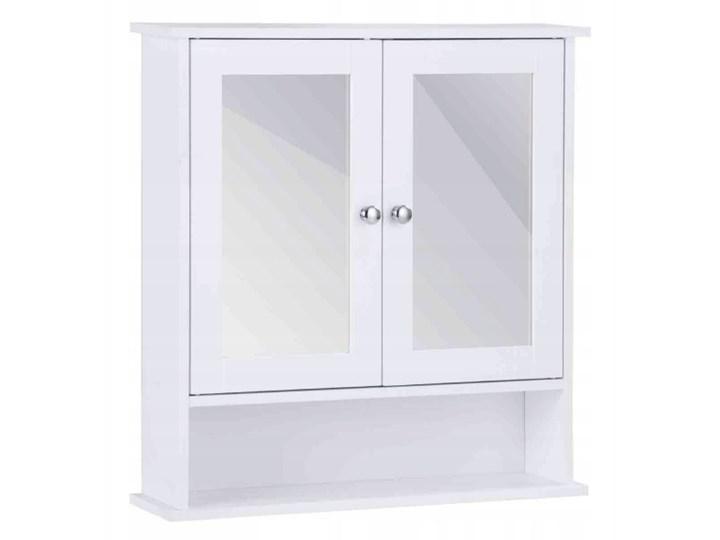 Szafka łazienkowa wisząca z lustrem Wysokość 58 cm Szkło Szerokość 56 cm Płyta MDF Głębokość 13 cm Kolor Szary