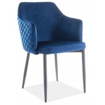 Krzesło ASTOR VELVET Granatowy Signal