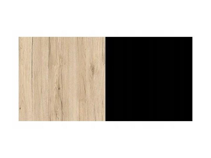 Zestaw 2 Ławy OREO Dąb San Remo Halmar Wysokość 35 cm Metal Stal Wysokość 45 cm Płyta MDF Zestaw stolików Rozmiar blatu 53x53 cm