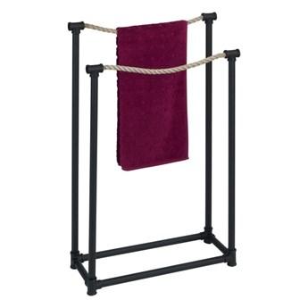 Czarny wieszak na ręczniki Wenko Osuna