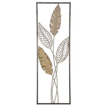 Dekoracja ścienna w złotym kolorze Mauro Ferretti Foglie, 30,5x91 cm