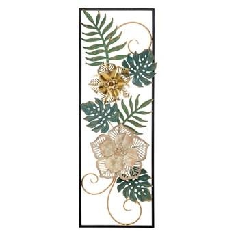 Metalowa dekoracja wisząca z wzorem kwiatów Mauro Ferretti Campur -A-, 31x90 cm