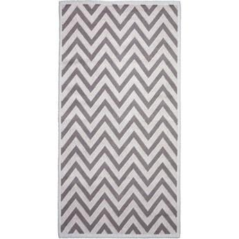 Beżowy bawełniany dywan Vitaus Zikzak, 80x150cm