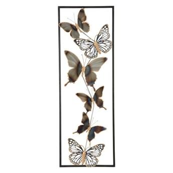 Metalowa dekoracja ścienna Mauro Ferretti Butterflies
