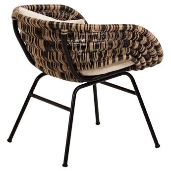 Fotel Lin 66x69 cm naturalno-czarny