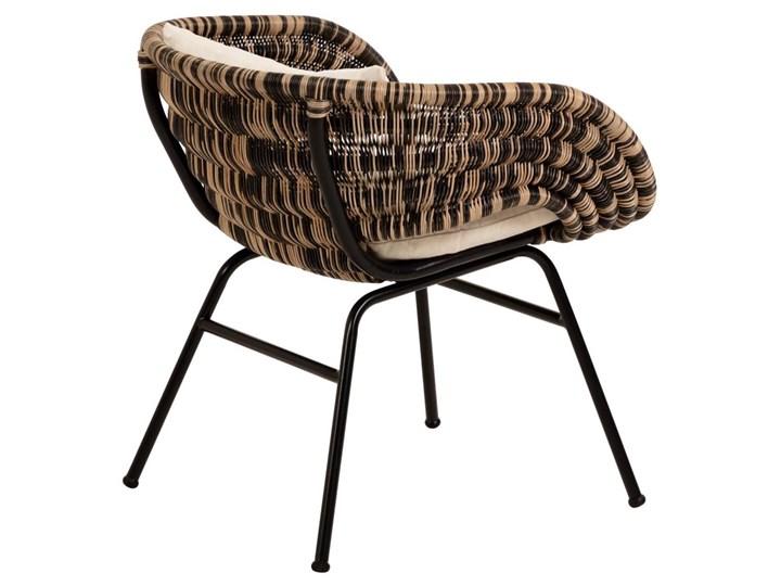 Fotel Lin 66x69 cm naturalno-czarny Metal Wysokość 66 cm Rattan Głębokość 66 cm Kategoria Fotele do salonu