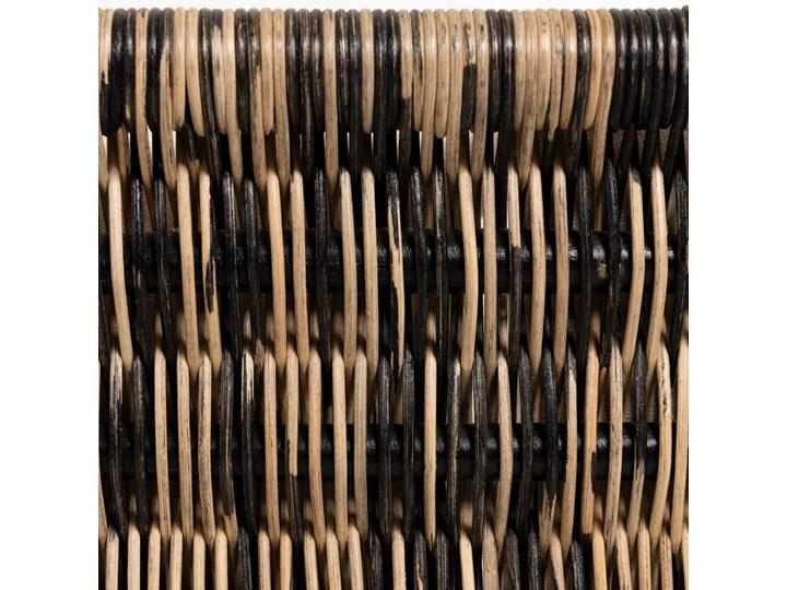 Fotel Lin 66x69 cm naturalno-czarny Metal Rattan Głębokość 66 cm Wysokość 66 cm Styl Nowoczesny