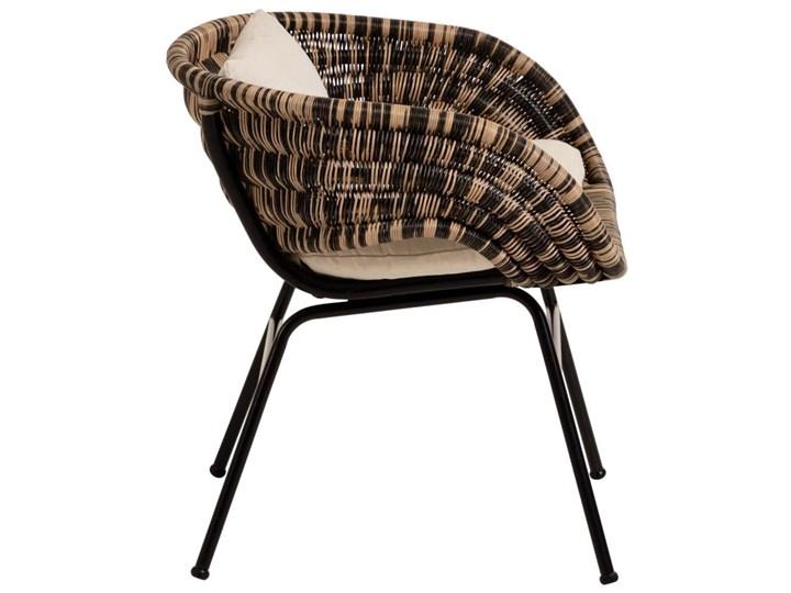 Fotel Lin 66x69 cm naturalno-czarny Metal Głębokość 66 cm Rattan Kolor Brązowy Wysokość 66 cm Kategoria Fotele do salonu