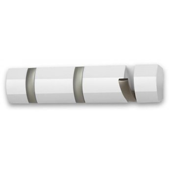 Nowoczesny wieszak ścienny Flip 3 biały - Umbra