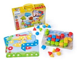 Tablica edukacyjna / Puzzle Superpegs - 32 elementy
