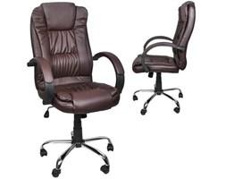 Fotel biurowy skóra eko - brązowy MALATEC