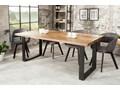 Stół Iron Craft 180x90 cm naturalny Długość 180 cm  Kategoria Stoły kuchenne Szerokość 80 cm Rozkładanie