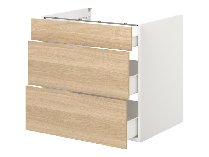 ENHET Szafka stojąca/3 szuflady Kolor Biały Szafka dolna Drewno Kategoria Szafki kuchenne