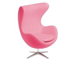 Fotel JAJO wełna jasny różowy soft