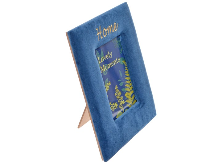Niebieska, zamszowa ramka Crue Kategoria Ramy i ramki na zdjęcia