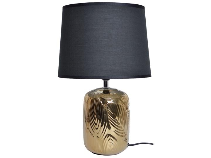 Złota lampka nocna z liściem Vola Lampa z kloszem Lampa nocna Kategoria Lampy stołowe Lampa z abażurem Kolor Szary