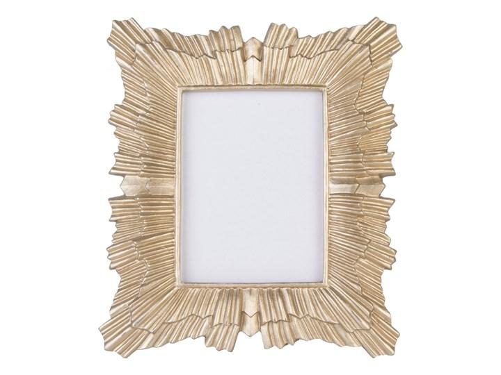 Złota ramka na zdjęcia Nowsa 16,5x14,5 cm Tworzywo sztuczne Pomieszczenie Salon