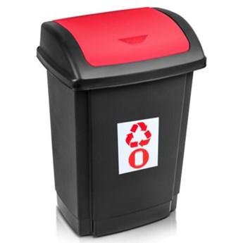 Kosz na śmieci PLAST TEAM 1341 Swing 25L Czarno-czerwony