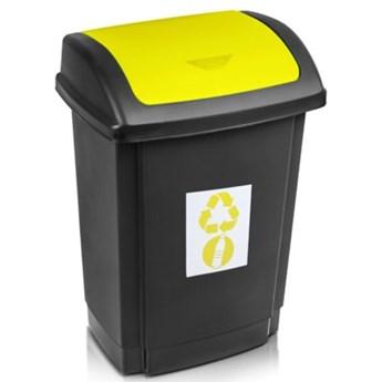 Kosz na śmieci PLAST TEAM 1341 Swing 25L Czarno-żółty